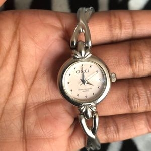 Authentic Gucci Pink Faced Watch